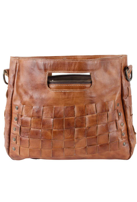 Bed Stu Orchid Bag - Cognac - Front