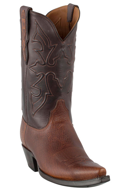 Black Jack for Pinto Ranch Men's Tan Buffalo Shoulder Boots