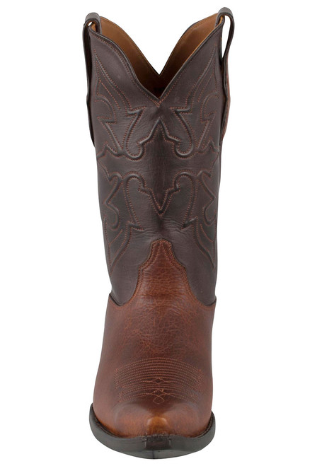 Black Jack for Pinto Ranch Men's Tan Buffalo Shoulder Boots - Front