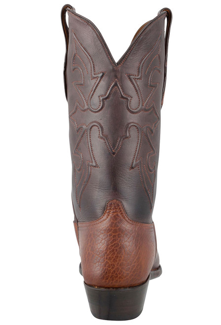 Black Jack for Pinto Ranch Men's Tan Buffalo Shoulder Boots - Back