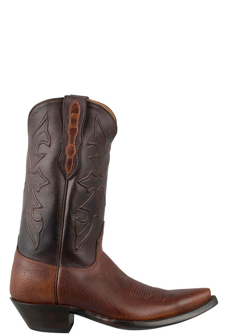 Black Jack for Pinto Ranch Men's Tan Buffalo Shoulder Boots - Side