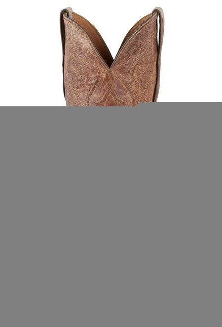 Black Jack for Pinto Ranch Men's Burnished Cigar Smooth Ostrich Boots-Front