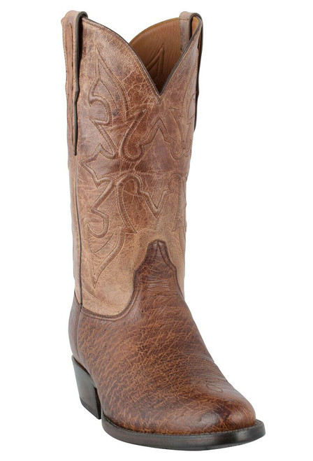 Black Jack for Pinto Ranch Men's Burnished Cigar Smooth Ostrich Boots-Hero