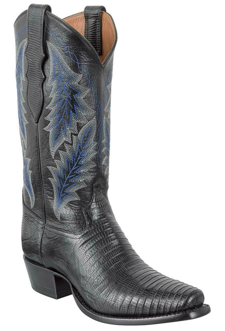 Tony Lama Signature Series Men's Black Teju Lizard Boots
