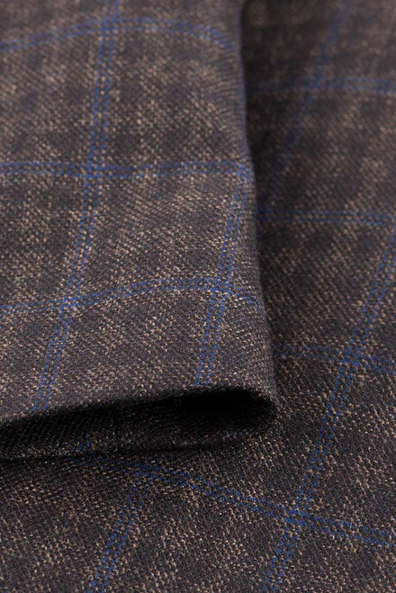 Brown Check Western Sport Coat - Close-Up