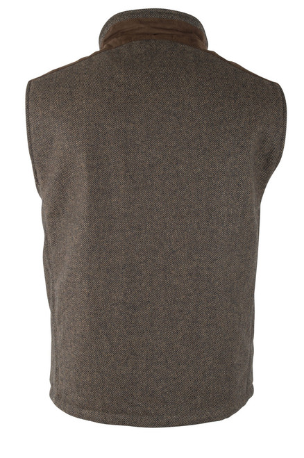 Madison Creek Wool Herringbone Vest - Tan - Back