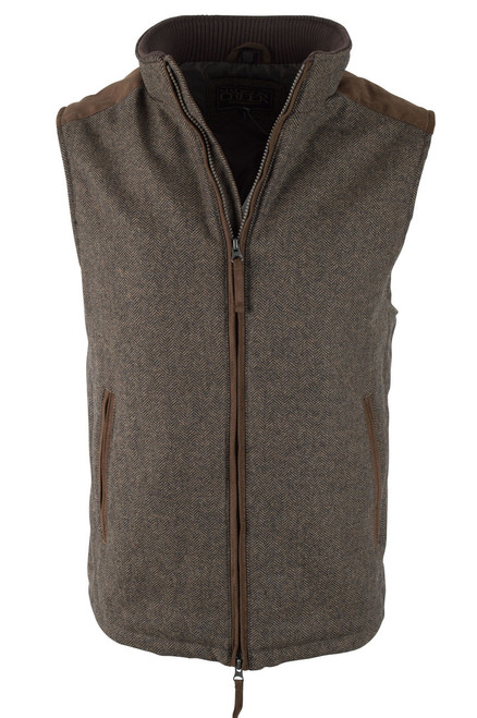 Madison Creek Wool Herringbone Vest - Tan - Front