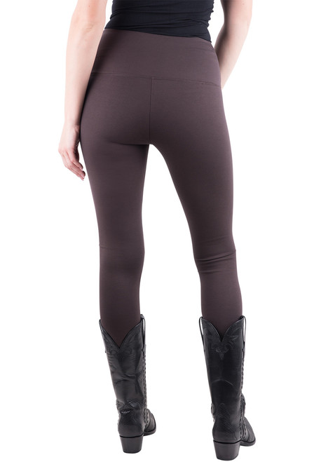 Lysse Center Seam Ponte Leggings - Espresso - Back