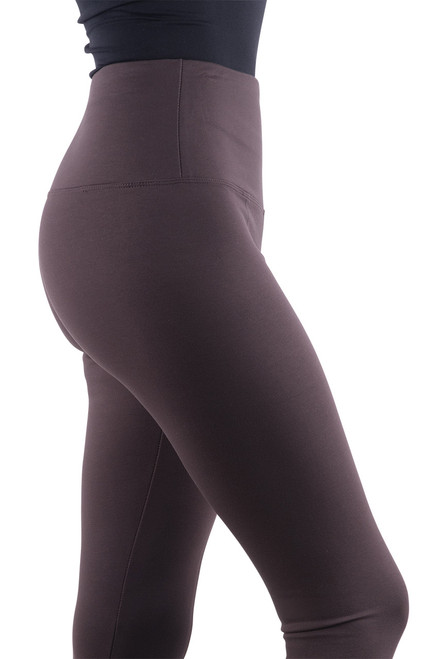 Lysse Center Seam Ponte Leggings - Espresso - Close-up