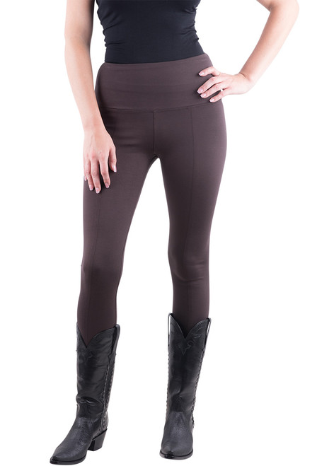 Lysse Center Seam Ponte Leggings - Espresso - Front