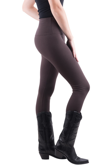 Lysse Center Seam Ponte Leggings - Espresso - Side