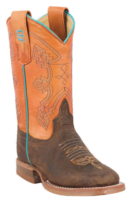 Anderson Bean Distressed Bison Tangerine Boots