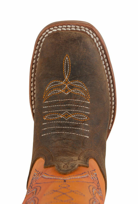 Anderson Bean Distressed Bison Tangerine Boots - Toe