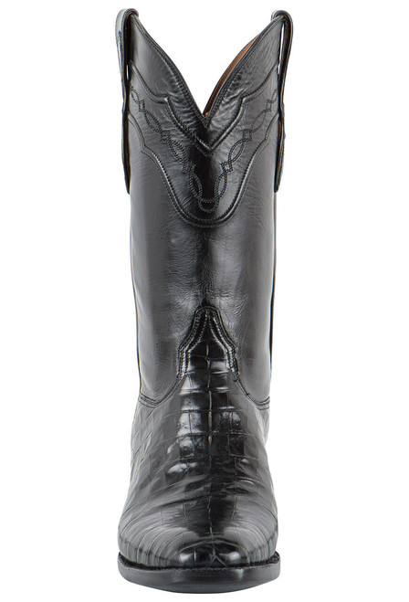 Black Jack for Pinto Ranch Men's Black Select Caiman Belly Boots - Front