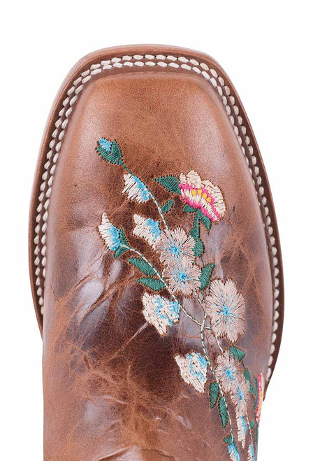 Macie Bean Kids Honey Bunch Embroidered Boots with Square Toe - Toe