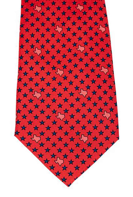 Paris Texas Apparel Co. States & Stars Tie - Red - Front