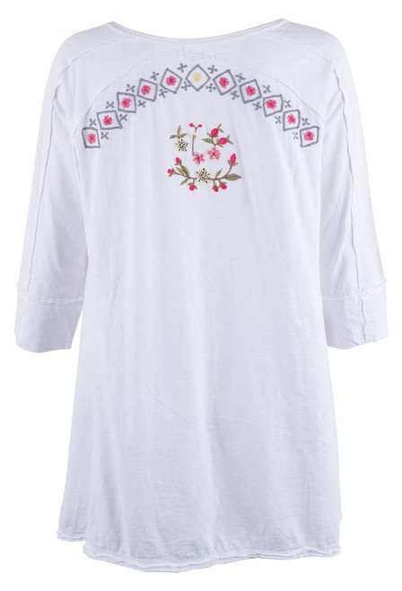 Caite Allegra Embroidered Top -Back