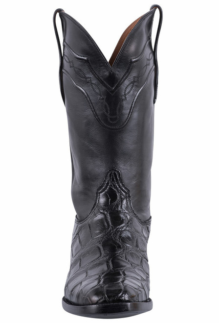 Black Jack for Pinto Ranch Men's Black Gator Boots - Front