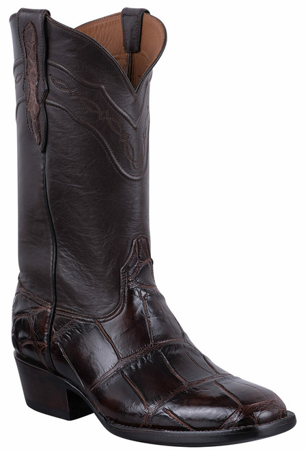 Black Jack for Pinto Ranch Men's Chocolate Gator Boots
