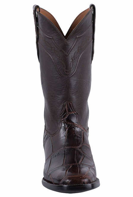 Black Jack for Pinto Ranch Men's Chocolate Gator Boots - Front