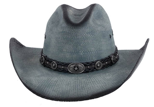 Bullhide Blue Into You Straw Hat - Front
