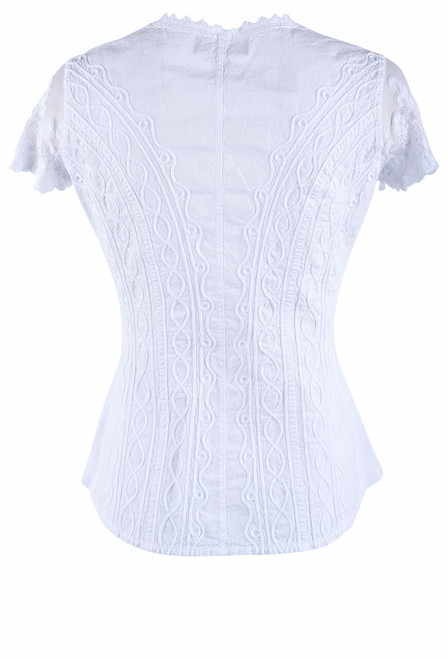 Gretty Zueger Lace Cap Sleeve Top - Back