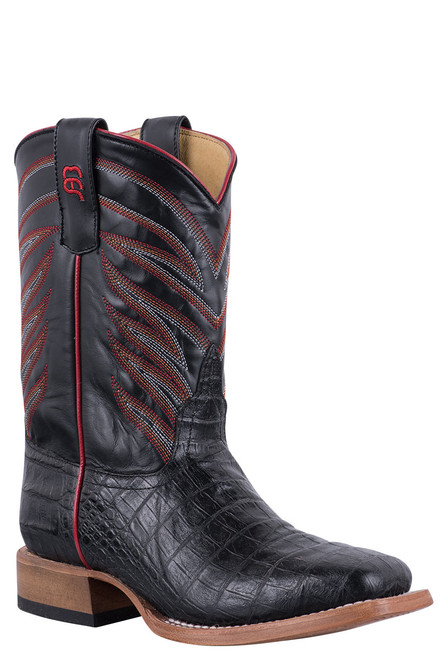 Anderson Bean Kids Black Cayman Print Boots