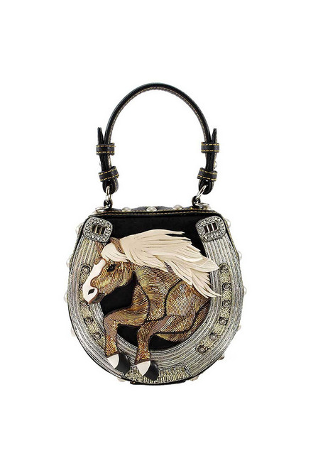 Mary Frances Mane Stay Horse Purse - Front