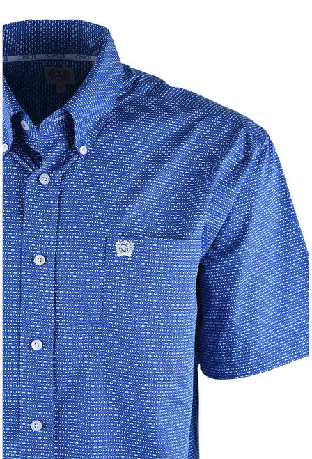 Cinch Blue Diamond Sport Shirt - Close-Up