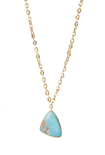 Christina Greene Long Drop Turquoise Necklace