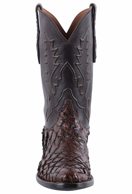 Black Jack for Pinto Ranch Men's Chocolate Inverted Fish Boots  - Front