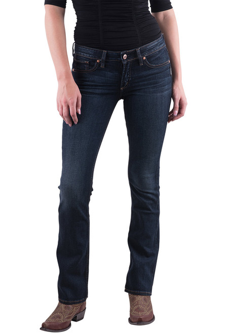 Silver Jeans Co. Suki Curvy Slim Fit Boot Cut Jeans - Front