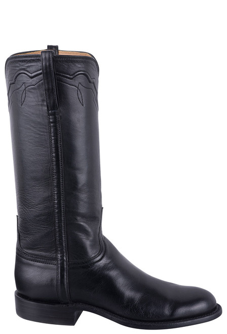 Lucchese Women's Black Baby Buffalo Roper Boots - Side