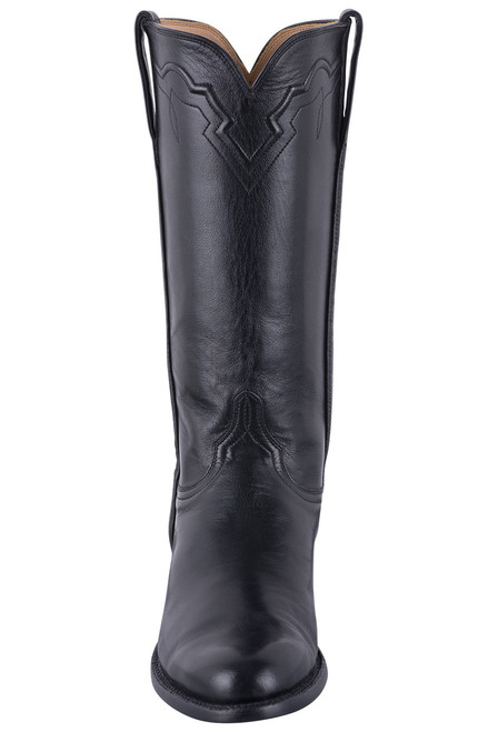 Lucchese Women's Black Baby Buffalo Roper Boots - Front
