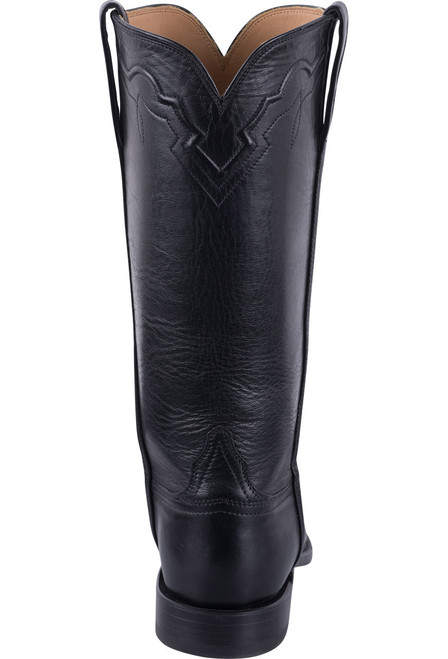 Lucchese Women's Black Baby Buffalo Roper Boots - Back