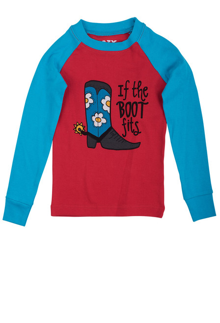 Children's If The Boot Fits Pajamas - Top