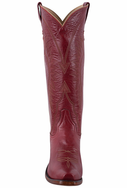 Rios of Mercedes Deep Red Milan Cowgirl Boots - Front