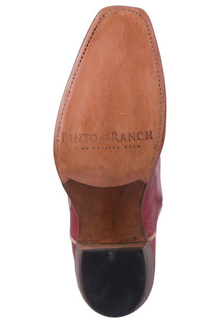Rios of Mercedes Deep Red Milan Cowgirl Boots - Sole