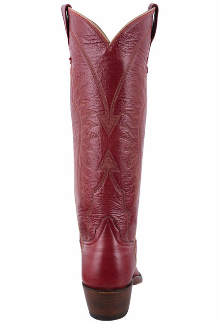 Rios of Mercedes Deep Red Milan Cowgirl Boots - Back