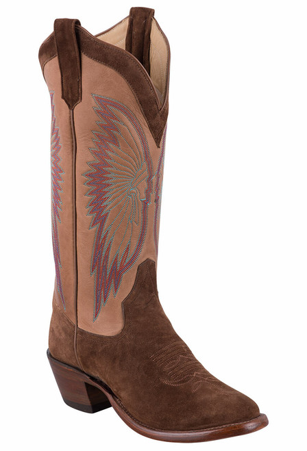 Rios of Mercedes Tobacco Sueded Brave Cowgirl Boots