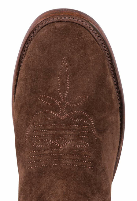 Rios of Mercedes Tobacco Sueded Brave Cowgirl Boots - Toe