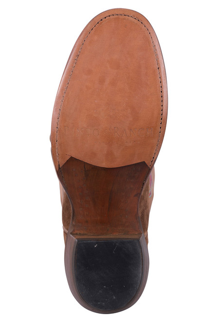 Rios of Mercedes Tobacco Sueded Brave Cowgirl Boots - Sole