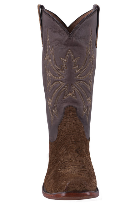 Rios of Mercedes Tan and Chocolate Hippo Cowboy Boots - Front