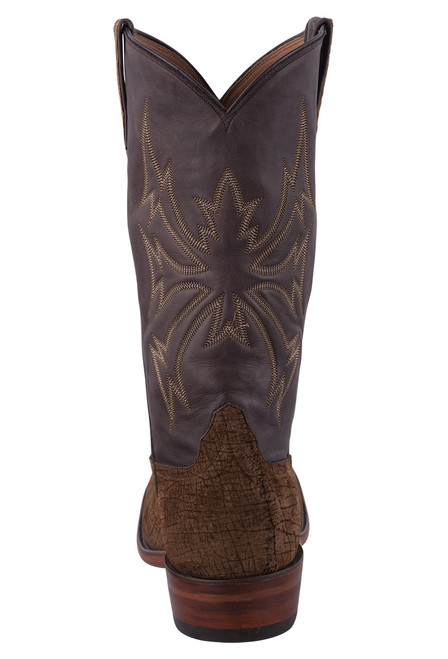Rios of Mercedes Tan and Chocolate Hippo Cowboy Boots - Back