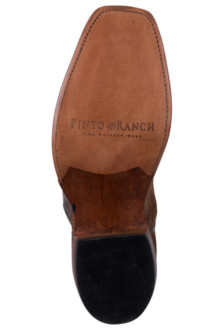 Rios of Mercedes Tan and Chocolate Hippo Cowboy Boots - Sole