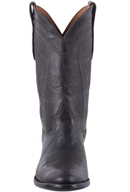 Black Jack for Pinto Ranch Men's Brown Mad Dog Goat Cowboy Boots  - Front