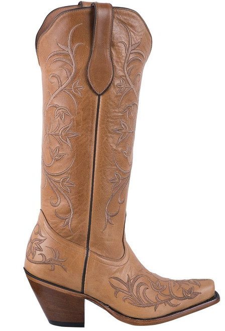 Tony Lama Signature Series Women's Mont Blanc Sycamore Scroll Boots  - Side