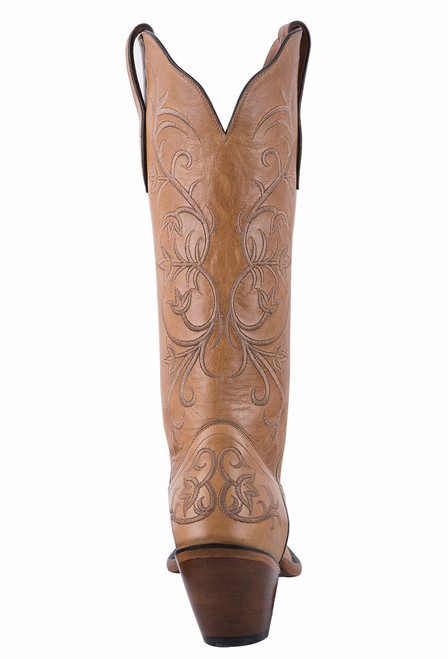 Tony Lama Signature Series Women's Mont Blanc Sycamore Scroll Boots - Back
