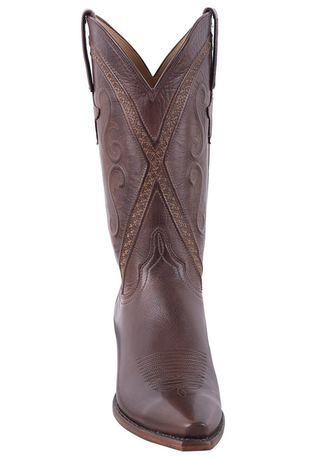 Lucchese Women's Whiskey Baby Buffalo Cowgirl Boots - Front