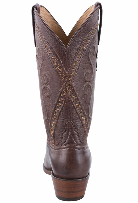 Lucchese Women's Whiskey Baby Buffalo Cowgirl Boots - Back